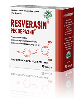 Resverasin®-complex of natural antioxidants to restore vitality and slow down aging