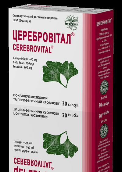 Церебровитал® - натуральный препарат для здоровья мозга и сосудов