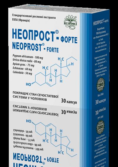 Неопрост® — форте - при воспалениях предстательной железы и доброкачественной гиперплазии простаты