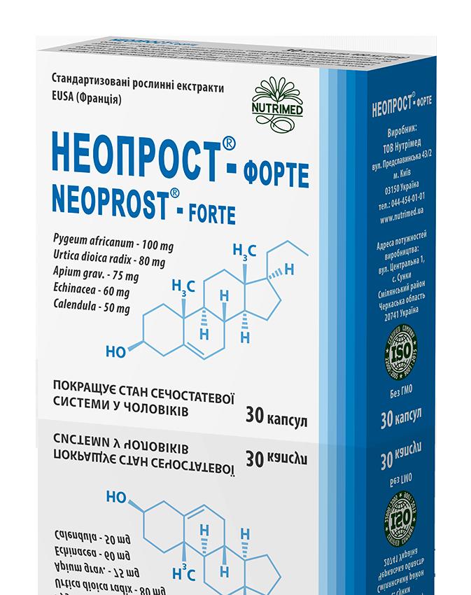 Неопрост® — форте - при запаленнях передміхурової залози